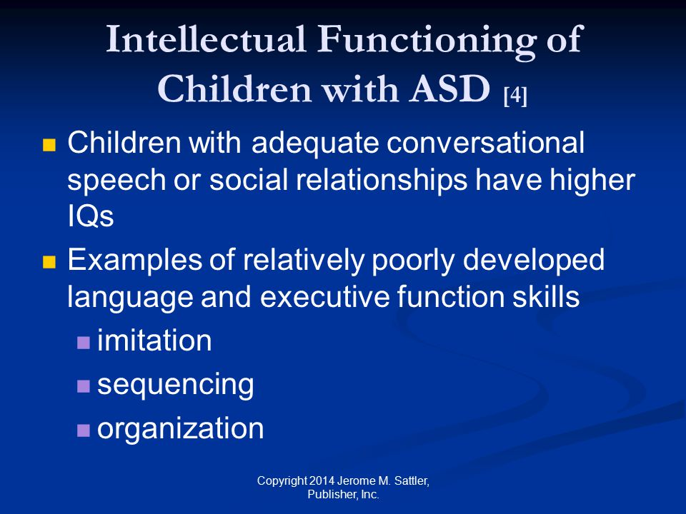 Intellectual Functioning of Children with ASD [4]